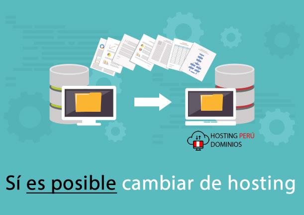 es posible cambiar de hosting